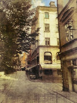 Stockholm, die Altstadt mit Restaurant von Joost Hogervorst