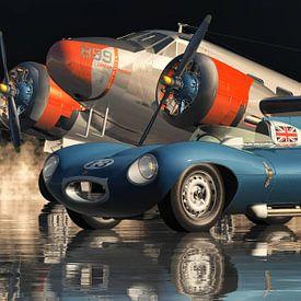 La légendaire Jaguar Type D sur Jan Keteleer