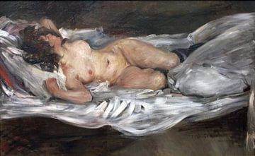 Frau nackt liegend, Louis Korinth - 1866