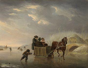 Sledevaart op het ijs, Andries Vermeulen sur