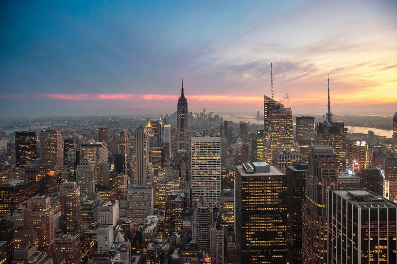 New York Panorama II van Jesse Kraal