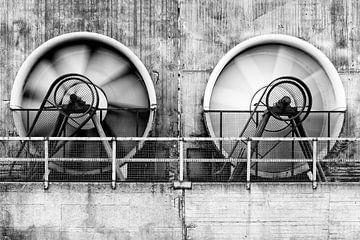 Koelventilatoren, Landschaftspark Duisburg van Evert Jan Luchies