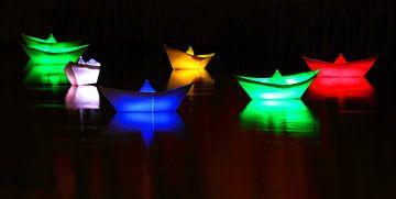 Navires miniatures illuminés