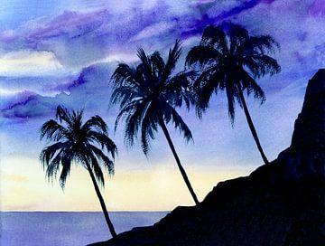 Drei Palmen van Jitka Krause