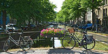 Nieuwe Uitleg: oude gracht in Den Haag van Georges Hoeberechts