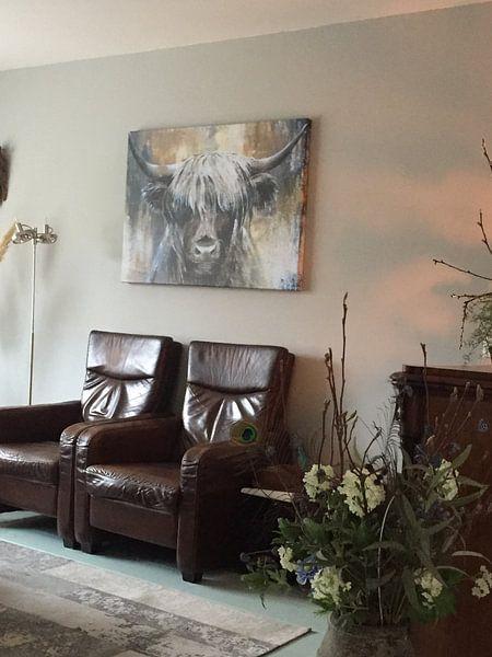Klantfoto: Highland Cow I van Atelier Paint-Ing