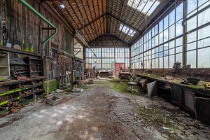 Industriehalle im Niedergang