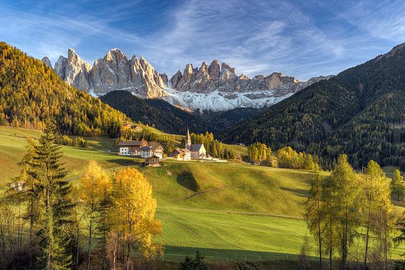St. Magdalena in Val di Funes in South Tyrol