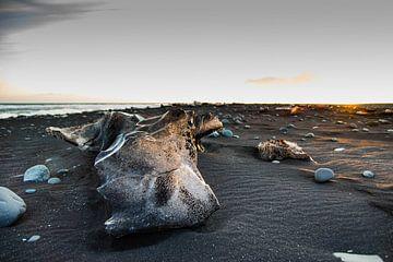 IJsblokken op het Jökulsárlón-strand, IJsland van Marie-Christine Alsemgeest-Zuiderent