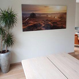 Photo de nos clients: Posbank zonsopkomst sur Dennis van de Water, sur aluminium
