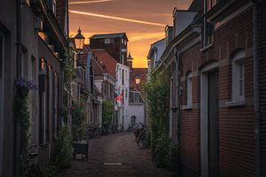 Amersfoort streets sunset sur