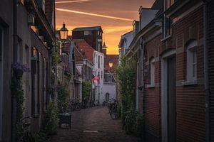 Amersfoort straatjes zonsondergang van