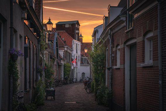 Amersfoort straatjes zonsondergang