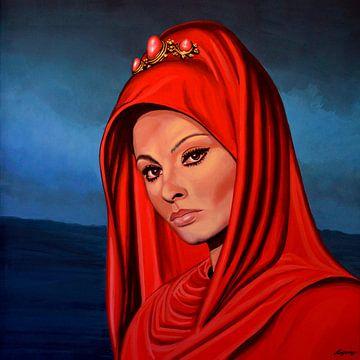Sophia Loren Schilderij van Paul Meijering