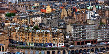Blick vom Carlton Hill auf die historische Altstadt von Edinburgh,  Schottland von Jürgen Wiesler