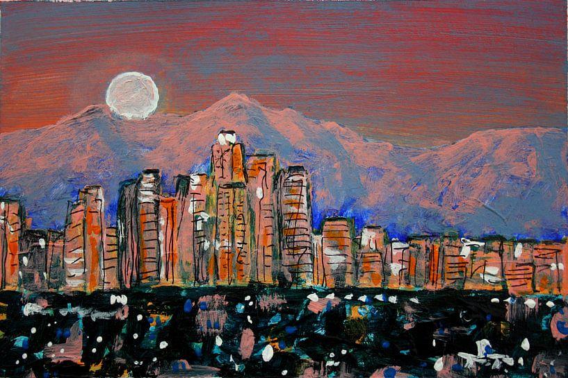 LA Moonrise van Andrea Meyer