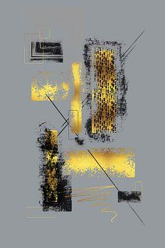 Dynamic Art No. 6 gold - Easy going van Melanie Viola
