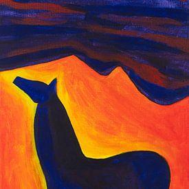 Pferd in der Nacht (1) von Ivonne Sommer