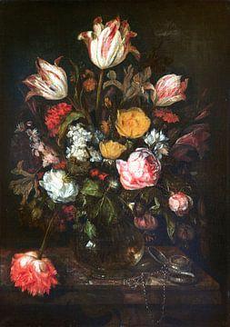 Nature morte avec des fleurs, Abraham van Beyeren sur