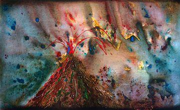 vulkaanuitbarsting van Erik Tanghe