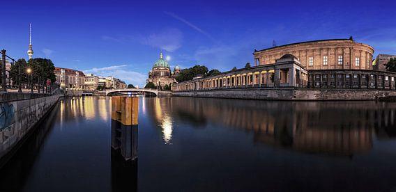 Berlijnse skyline aan de Spree - uitzicht vanaf de televisietoren langs de kathedraal naar het Museu