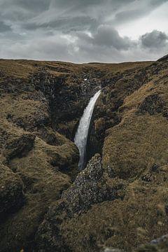 IJslandse waterval II van Colin van Wijk