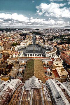 Blick vom Petersdom auf die Stadt Rom von Munich Art Prints