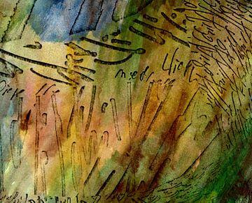 kalligrafische Wiese von Claudia Gründler