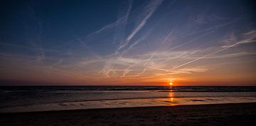 Sunset Egmond aan Zee van Sander Maas