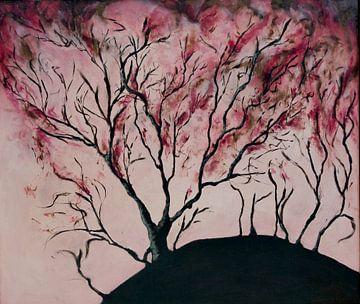 brandende boom van Jos Verhoeven