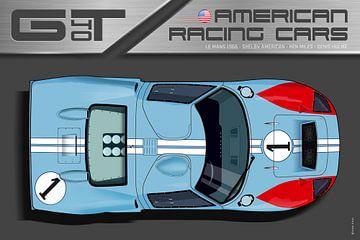 Ford GT40 No.1, Ken Miles von Theodor Decker
