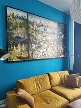 Klantfoto: De Tuin der lusten van Jheronimus Bosch, op canvas