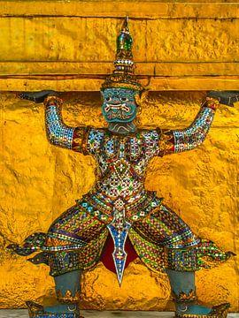 Bewaker van de tempel, Thailand van Rietje Bulthuis