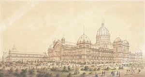 Joseph Reed, The Exhibition Building Melbourne 1880, südwestlich der Großen Halle - 1879