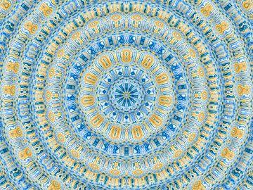 Ripples in Petrol (Mandala) von Caroline Lichthart