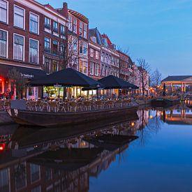 Leiden - uitzicht op de Koornbrug, Nieuwe Reijn van Ardi Mulder