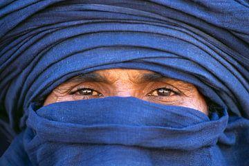 Algerien, in der Nähe von Djanet, Wüste Sahara.  Tuareg-Mann. Porträt.
