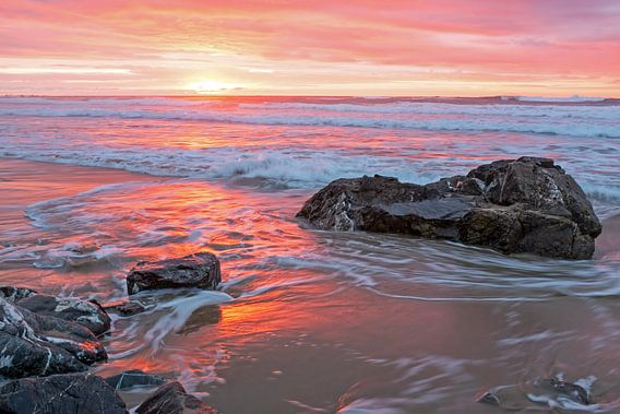 Mooie zonsondergang in Portugal van nilaya van vliet