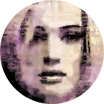 Abstract portret no. 1 van Diana Mets