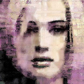 Portrait lilas abstrait sur Diana Mets