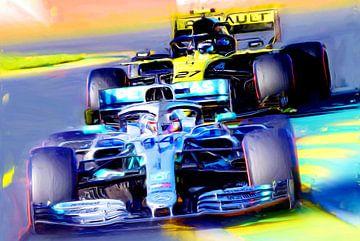 Lewis Hamilton #44 and Nico Hülkenberg #27 van Jean-Louis Glineur alias DeVerviers