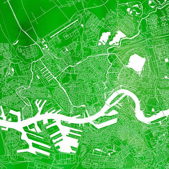 Rotterdam | Stadskaart Groen | Vierkant