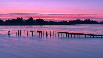 Sonnenuntergang bei Woudbloem, Groningen