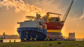 Olieplatform Rotterdam sur Dick van der Wilt