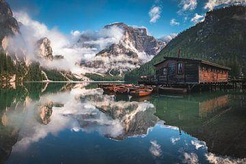 Pragser WIldsee in den Dolomiten Panorama