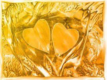 Herzen Nr. 2 - goldgelb van Katrin Behr