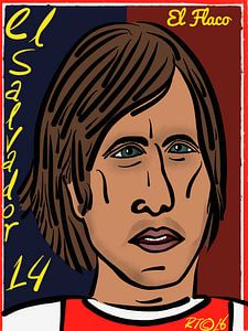Johan Cruijff, Nummer 14, El Salvador en  El Flaco. van