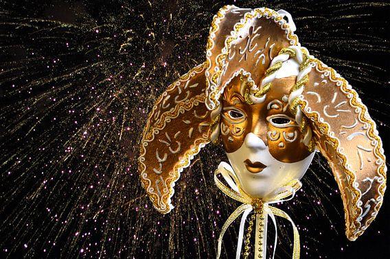 Venetiaans gouden masker van 7Horses Photography