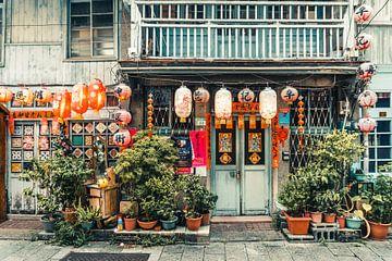 Shennong Street in het stadje Tainan, Taiwan van Expeditie Aardbol