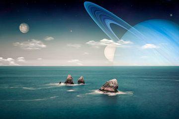 Extraterrestrische Landschaft von Manjik Pictures
